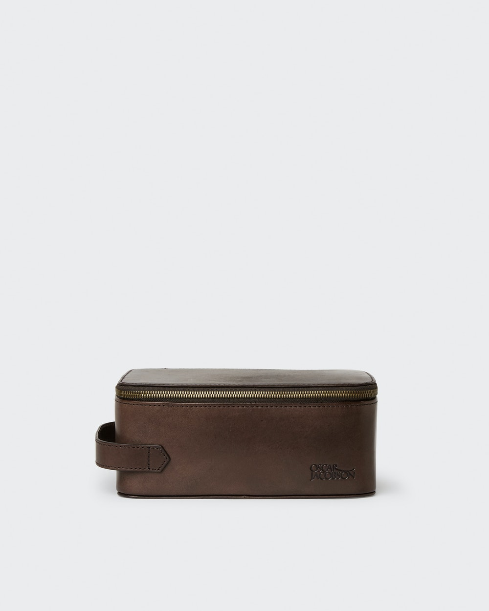Tobias toiletry bag Dark brown Oscar Jacobson