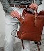 Palermo backpack Brown Saddler