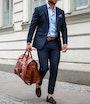 Orlando weekend/garment bag Brown Saddler