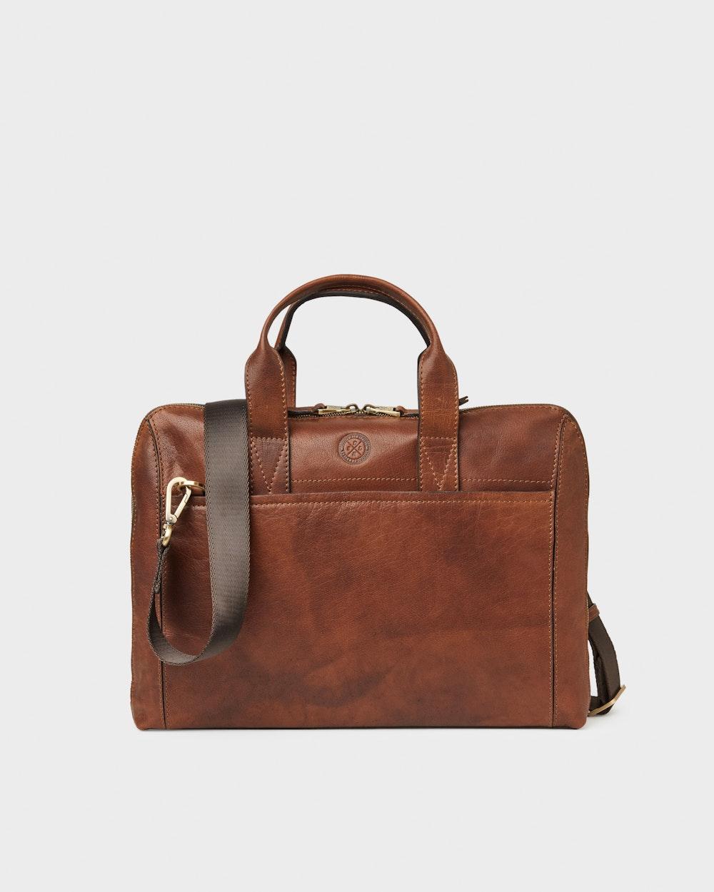 Gustav computer bag Brown Saddler