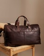 Leo weekend bag Dark brown Saddler