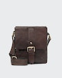 George messenger bag Dark brown Saddler