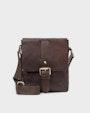 George messenger bag Dark brown Saddler