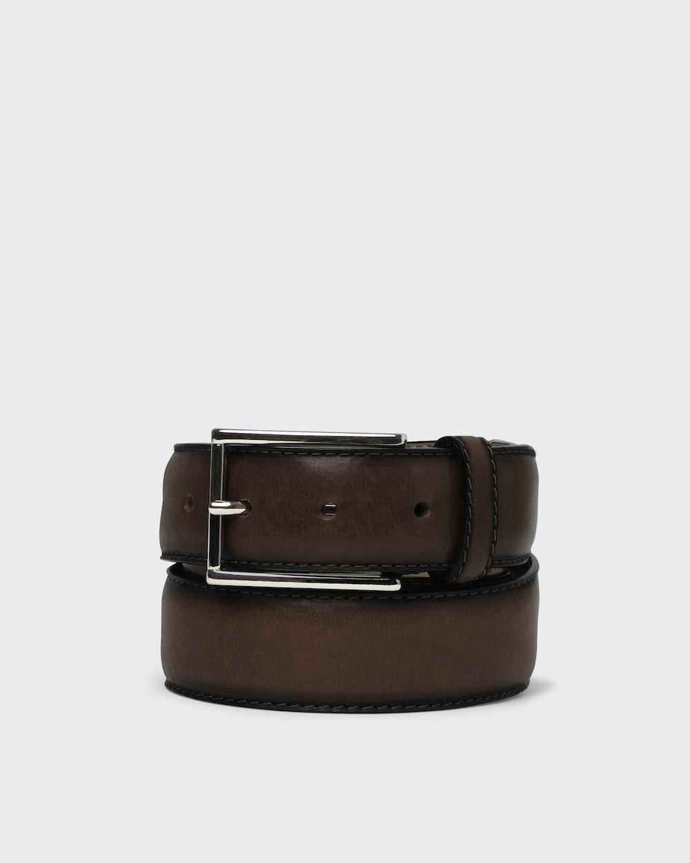 Arthur belt Dark brown Saddler