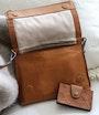 Vaxholm shoulder bag Light brown Saddler
